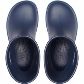 Botas de chuva Crocs para crianças Bota de chuva Crocband Kids azul marinho 205827 4KB 1