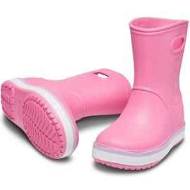 Botas de chuva Crocs para crianças Bota de chuva Crocband Kids rosa 205827 6QM 3