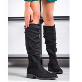 Sweet Shoes Botas de camurça preto 2