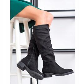 Sweet Shoes Botas de camurça preto 1