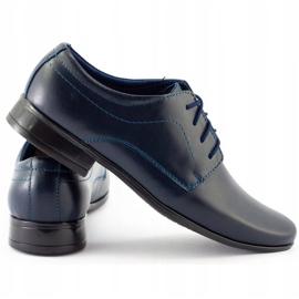 Lukas Sapatos de comunhão formal para crianças J1 azul marinho marinha 1