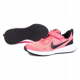 Tênis Nike Revolution 5 Psv Jr BQ5672-602 branco rosa 1