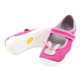 Calçados infantis Befado 114X430 rosa cinza 4