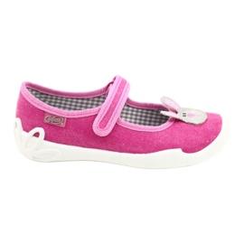 Calçados infantis Befado 114X430 rosa cinza 1