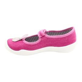 Calçados infantis Befado 114X430 rosa cinza 2