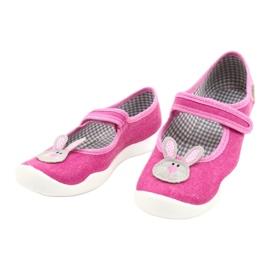 Calçados infantis Befado 114X430 rosa cinza 3