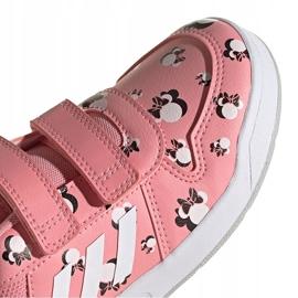 Sapatos infantis Adidas Tensuar C rosa FZ3212 branco 4