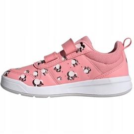 Sapatos infantis Adidas Tensuar C rosa FZ3212 branco 1