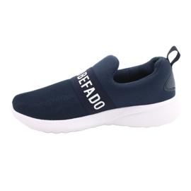 Calçados infantis Befado 516Y082 branco azul marinho 2