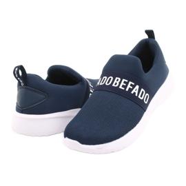Calçados infantis Befado 516Y082 branco azul marinho 3
