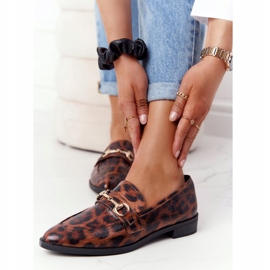 S.Barski Mocassins femininos elegantes S. Barski Leopardo marrom 3