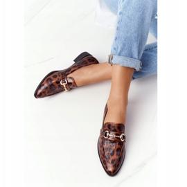 S.Barski Mocassins femininos elegantes S. Barski Leopardo marrom 2