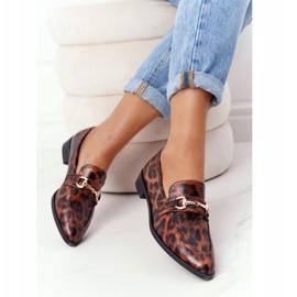 S.Barski Mocassins femininos elegantes S. Barski Leopardo marrom 5