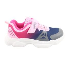 Calçados infantis Befado 516X054 azul marinho rosa cinza multicolorido 1