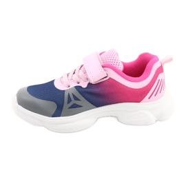 Calçados infantis Befado 516X054 azul marinho rosa cinza multicolorido 2