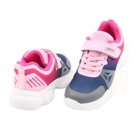 Calçados infantis Befado 516X054 azul marinho rosa cinza multicolorido 4