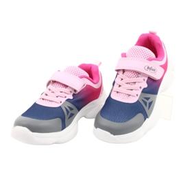 Calçados infantis Befado 516X054 azul marinho rosa cinza multicolorido 3