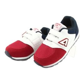 American Club Calçados esportivos com inserção de couro americano BS01 BS02 vermelho branco azul marinho 1