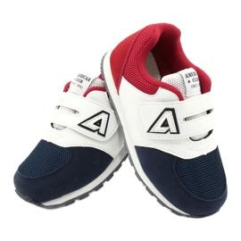 American Club Palmilha de couro BS01 BS02 Navy americana branco vermelho azul marinho 4