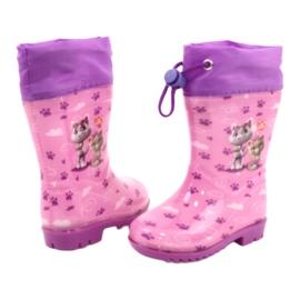 American Club Galochas American Pink Kitties KAL05 tolet rosa 2