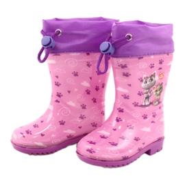 American Club Galochas American Pink Kitties KAL05 tolet rosa 1