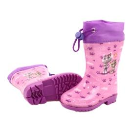 American Club Galochas American Pink Kitties KAL05 tolet rosa 3