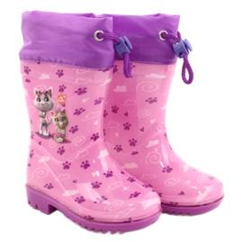 American Club Galochas American Pink Kitties KAL05 tolet rosa 4