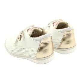American Club Calçados Esportivos Com Velcro GC06 / 21 Branco e Dourado 5