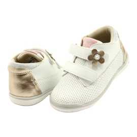 American Club Calçados Esportivos Com Velcro GC06 / 21 Branco e Dourado 3
