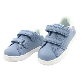 American Club Sapatos de velcro ES22 / 21 azul prata 2