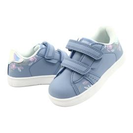 American Club Sapatos de velcro ES22 / 21 azul prata 3