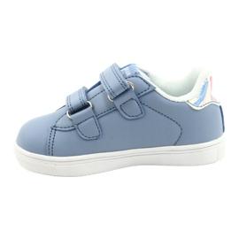 American Club Sapatos de velcro ES22 / 21 azul prata 1