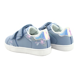 American Club Sapatos de velcro ES22 / 21 azul prata 5