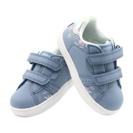 American Club Sapatos de velcro ES22 / 21 azul prata 4
