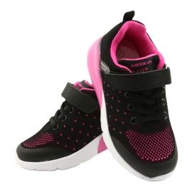 American Club Calçado desportivo feminino com velcro RL12 / 21 preto rosa 4