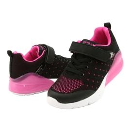 American Club Calçado desportivo feminino com velcro RL12 / 21 preto rosa 3