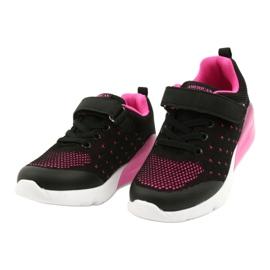 American Club Calçado desportivo feminino com velcro RL12 / 21 preto rosa 2