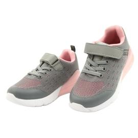 American Club Calçados femininos esportivos com velcro RL12 / 21 cinza rosa 2