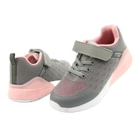 American Club Calçados femininos esportivos com velcro RL12 / 21 cinza rosa 3