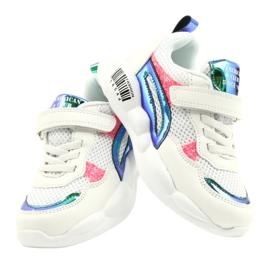 American Club Calçados Esportivos Halógenos da Moda ES23 / 21 branco rosa verde 4