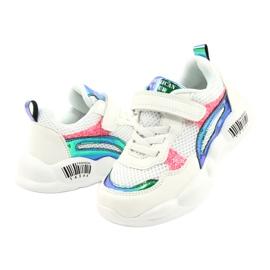 American Club Calçados Esportivos Halógenos da Moda ES23 / 21 branco rosa verde 3