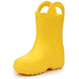 Crocs Handle It Rain Boot Jr 12803-730 castanho amarelo 2
