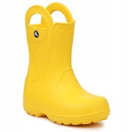 Crocs Handle It Rain Boot Jr 12803-730 castanho amarelo 3