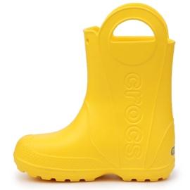 Crocs Handle It Rain Boot Jr 12803-730 castanho amarelo 4