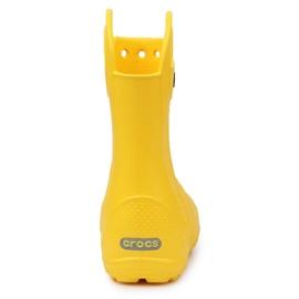 Crocs Handle It Rain Boot Jr 12803-730 castanho amarelo 5