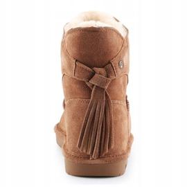 Sapatos BearPaw Mia Jr 2062Y-220 Hickory Ii branco castanho 5