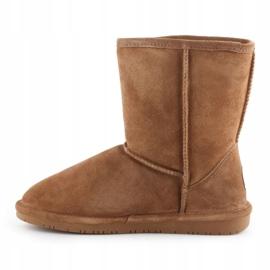Sapatos BearPaw Emma Youth 608Y-920 W Hickory Neverwet castanho preto 4