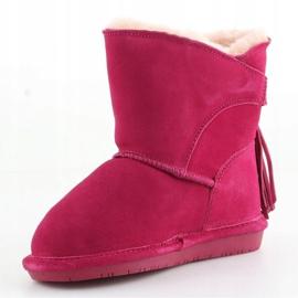 Sapatos Bearpaw Mia Toddler Jr.2062T-671 Pom Berry rosa 2