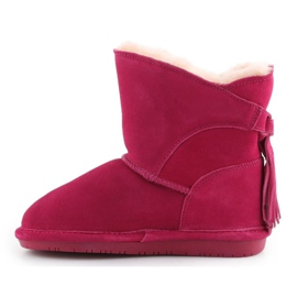 Sapatos Bearpaw Mia Toddler Jr.2062T-671 Pom Berry rosa 4