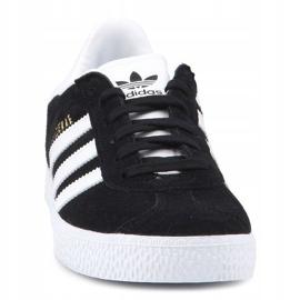 Sapatos Adidas Gazelle C Jr BB2507 preto azul 1